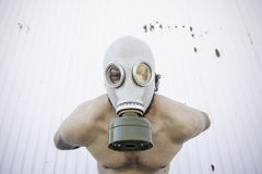 Man protected radioactivity Royalty Free Stock Photo