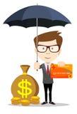 Man protecting his money Stock Photos