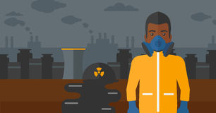 Man in protective chemical suit. Royalty Free Stock Photo