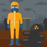 Man in protective chemical suit. Stock Photography