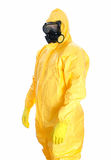 Man in protective hazmat suit. royalty free stock images
