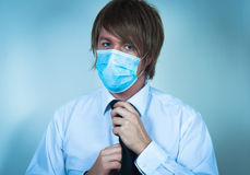 Man in protective mask Royalty Free Stock Photos