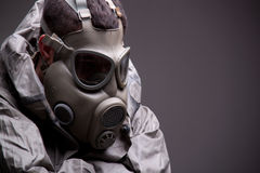 Man in protective mask Stock Photography