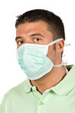 Man with protective mask Royalty Free Stock Photos