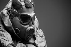 Man in protective mask Royalty Free Stock Image