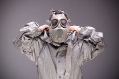 Man in protective mask Royalty Free Stock Photography