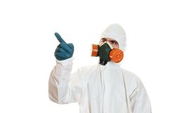 Man in protective suit Stock Photos