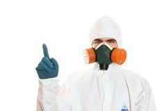 Man in protective suit Royalty Free Stock Photography