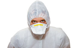 Man in protective suit Royalty Free Stock Photos