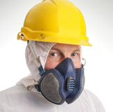 Man in protective suit Stock Photography