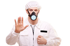 Man in protective wear Stock Photography