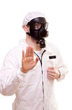 Man in protective wear Stock Photo