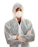Man in protective workwear and mask Stock Photography