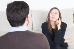 Man during psychoanalysis Stock Photo