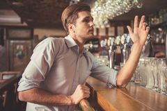 Man at the pub Royalty Free Stock Photography