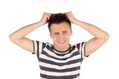 Man Pull Out Hair Royalty Free Stock Photos