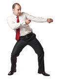 Man in pull position Stock Images