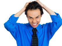 Man pulling his hair out Royalty Free Stock Photos