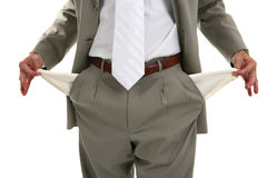 Man Pulling out Empty Pockets Stock Photography