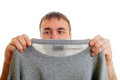 Man and pullover. Stock Photos