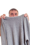 Man and pullover. Royalty Free Stock Photo
