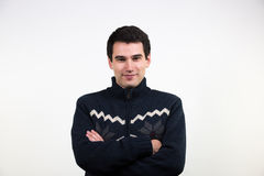 Man in pullover Stock Images