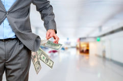Man pulls out empty pockets Royalty Free Stock Photos