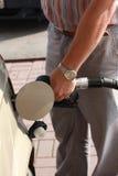 Man pumping gas Stock Photography
