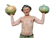 Man with pumpkins 20 Stock Photo