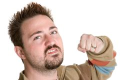 Man Punching Fist Stock Images