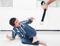 Man punishing his son Royalty Free Stock Photos