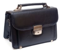 Man purse the man's leather black Stock Photography