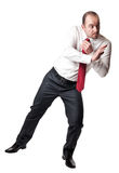 Man in push position Stock Image