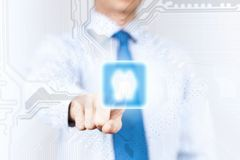 Man pushing icon Royalty Free Stock Photography