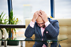 Man put his head in despair Royalty Free Stock Photo