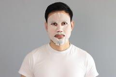 Man put on treatment mask. Stock Photography