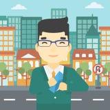 Man putting envelope in pocket vector illustration Stock Images