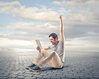 Man putting his hand up Royalty Free Stock Photography