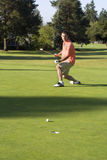 Man Putting On Golf Course Royalty Free Stock Photography