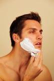 Man putting on shaving cream Royalty Free Stock Photo