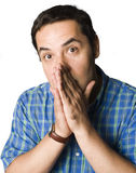 Man with puzzled expression Stock Image