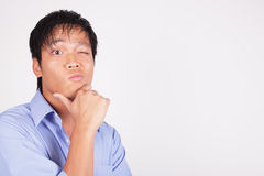 Man with a puzzled facial expression Royalty Free Stock Photos
