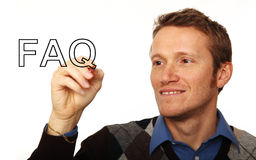 Man and question Stock Image