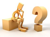 Man And question Stock Photos