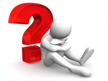 Man with question Stock Photography
