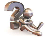 Man with question Royalty Free Stock Photography