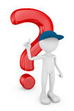 Man and question mark Stock Image