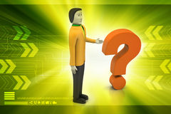Man with question mark Royalty Free Stock Images