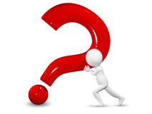 Man and question mark Stock Photos