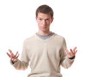 Man questioning Royalty Free Stock Photography